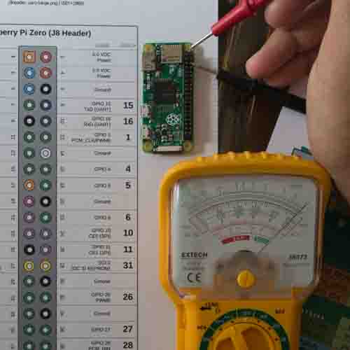 Multimeter and Raspberry Pi